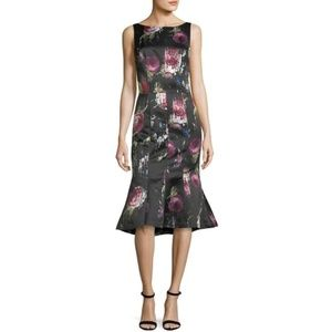 NEW David Meister Sleeveless Floral-Print dress
